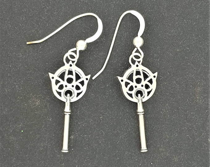 Final Fantasy X Yuna's Wand Earrings in Sterling Silver or Antique Bronze