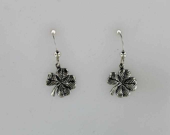 Sterling Silver 4 Leaf Clover Earrings