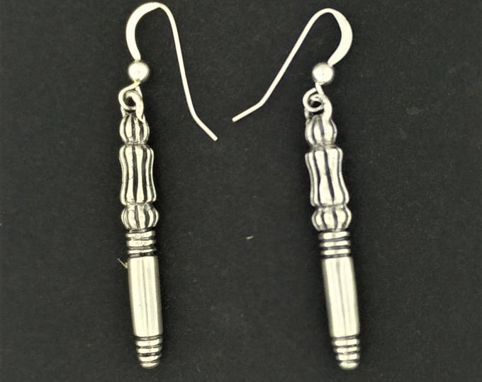 Final Fantasy 7 Crisis Core Genesis Earrings in Sterling Silver or Antique Bronze