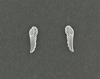 Wings Stud Earrings in Sterling Silver