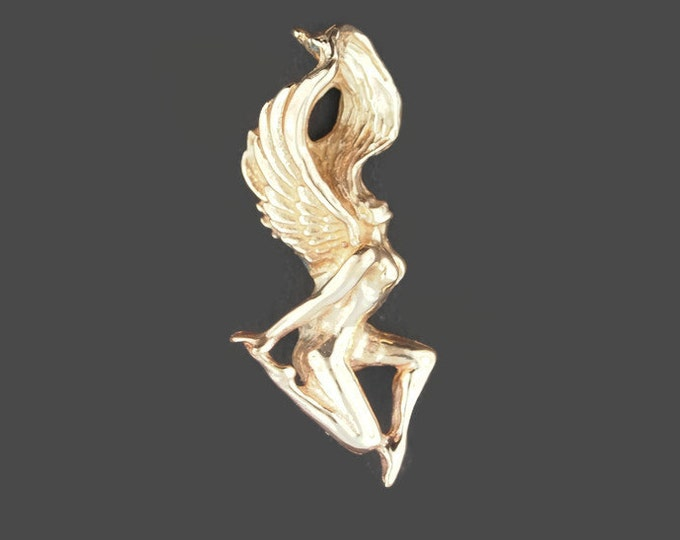 Angel pendant in Antique Bronze