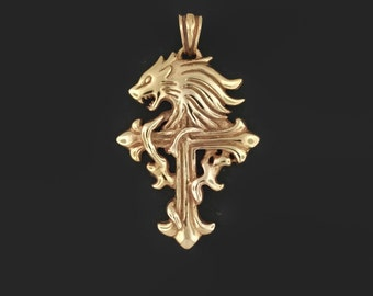 Final Fantasy 8 Squall Griever pendant from in Antique Bronze