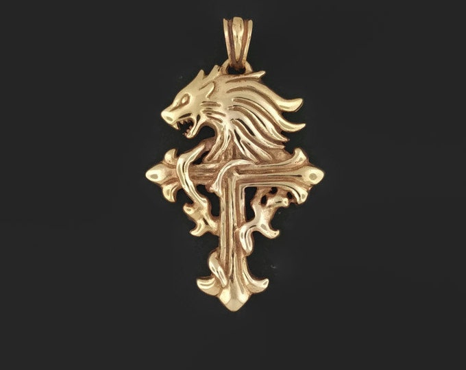 Squall Leonhart pendant from Final Fantasy 8 in Antique Bronze