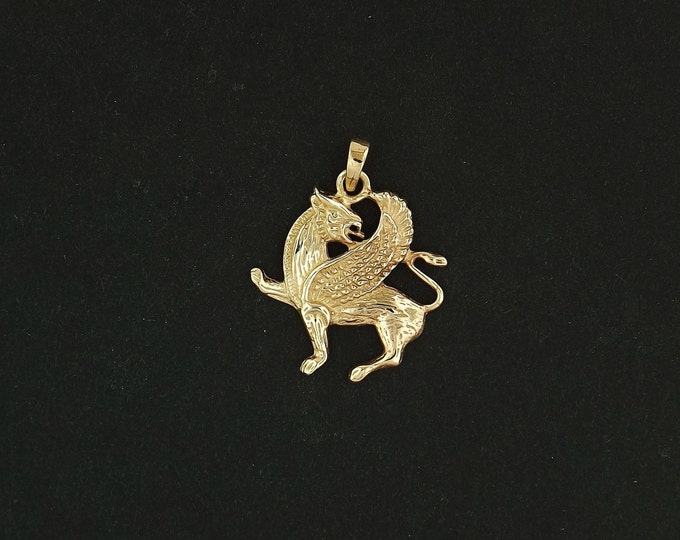 Griffin Pendant in Antique Bronze