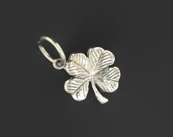 Small Four-Leaf Clover Pendant in Sterling Silver