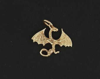 Dragon Pendant in Antique Bronze