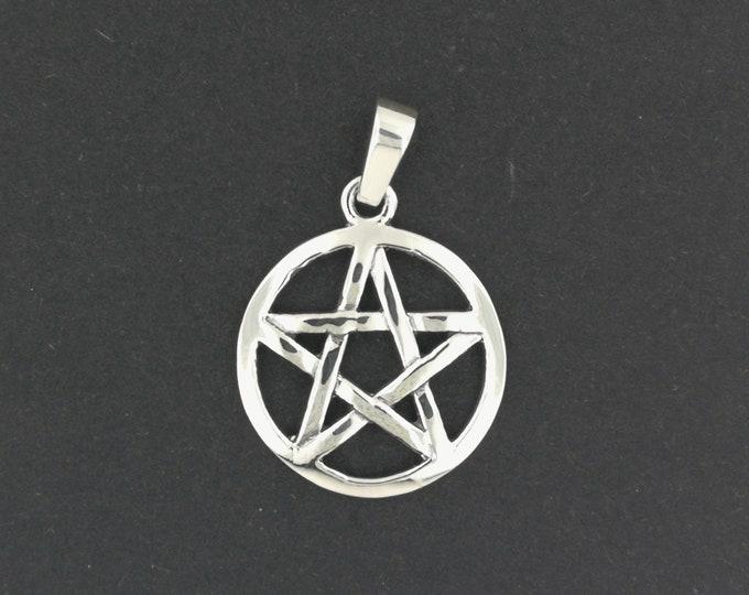 Medium Pentacle Pendant in Sterling Silver