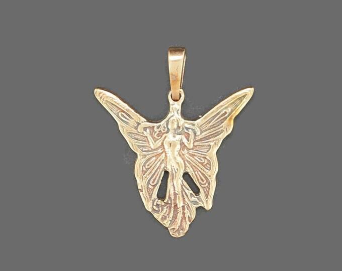 Fairy Pendant in Antique Bronze