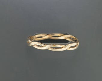 Simple Antique Bronze Braid Ring