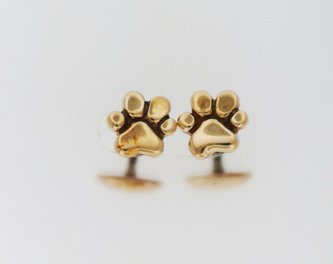 Paw Print Cufflinks in Antique Bronze