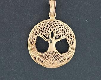 Celtic Tree of Life Pendant in Antique Bronze