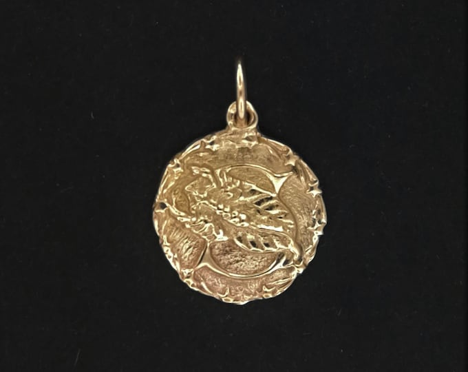 Zodiac Medallion Scorpio in Antique bronze