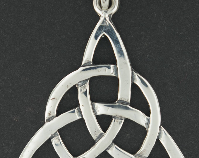 Large Sterling Silver Triquetra Pendant