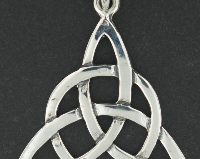 Large Sterling Silver Triquetra Pendant