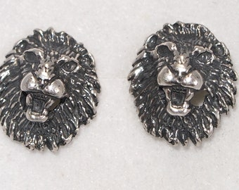 Gold Lion Head Stud Earrings Made to Order