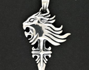 Squall leonhart pendant version 2 from final fantasy 8 in squall leonhart pendant version 2 from final fantasy 8 in stainless steel made to order mozeypictures Image collections