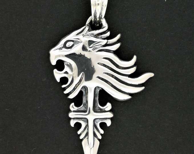 Final Fantasy 8 Squall Griever Pendant Version 2 in Sterling Silver
