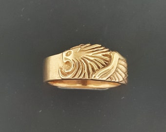 Final Fantasy 8 Squall Griever ring in Antique Bronze