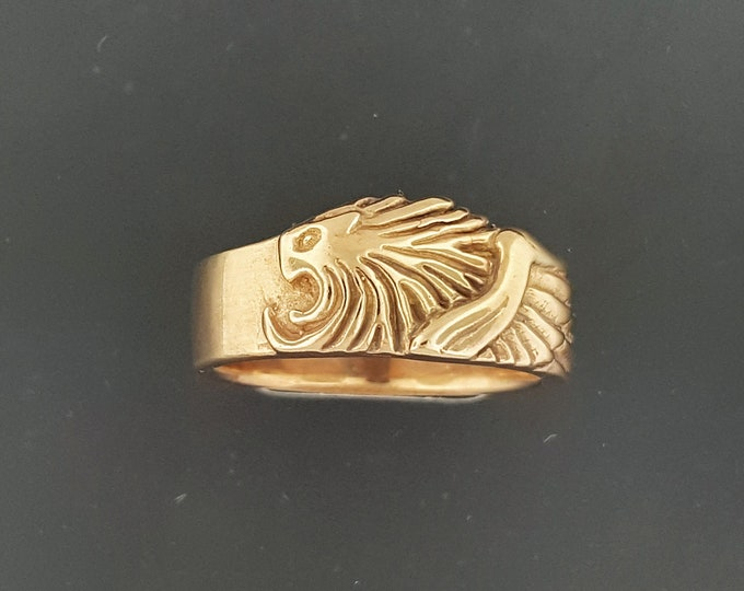 Squall Leonhart ring from Final Fantasy 8 in Antique Bronze