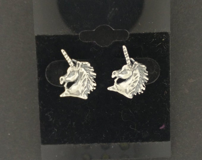 Gold Unicorn Head Earrings made to order