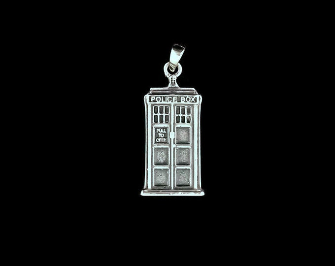 Sterling Silver Tardis Pendant from Dr Who