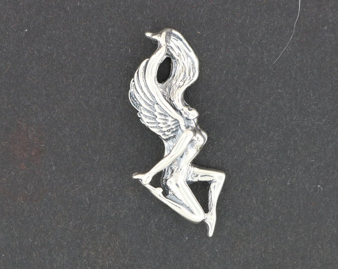 Angel pendant in Sterling Silver or Antique Bronze