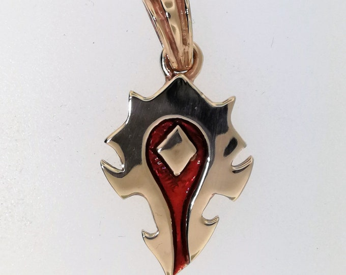 Horde pendant in antique bronze