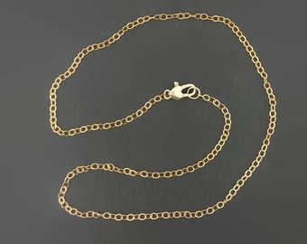 Antique Bronze 1.8mm Flat Cable Chain Made to Order