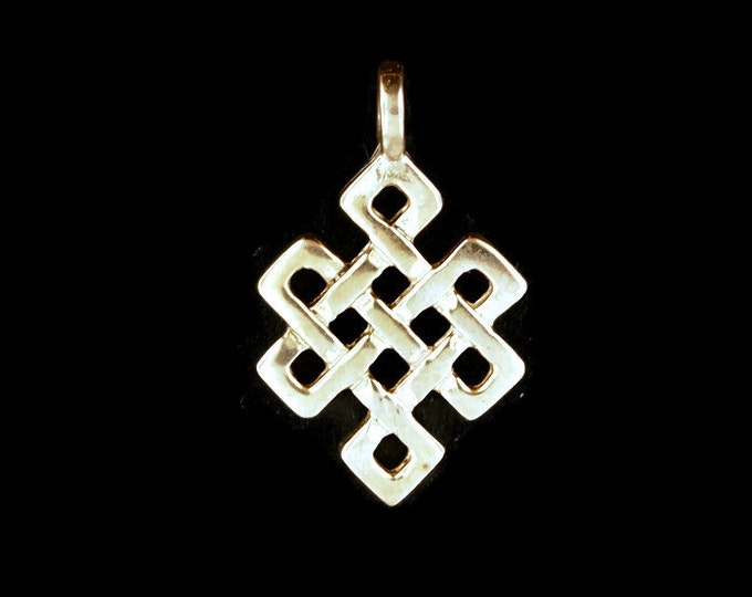 Endless Knot Pendant in Antique Bronze