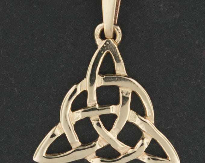 Small Antique Bronze Triquetra Pendant