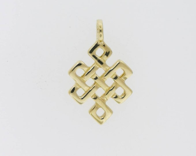 Gold Endless Knot Pendant Made to Order