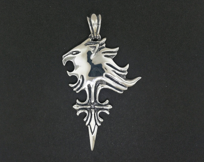 Custom Griever Pendant in Sterling Silver or Antique Bronze