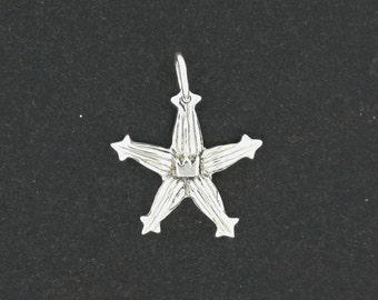 Kingdom Hearts Wayfinder Charm Pendant in Sterling Silver or Antique Bronze