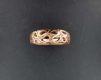 1950's Style Wedding Band in Antique Bronze