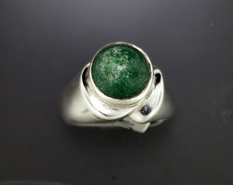 Green Ringaventurine Ringsterling Silver Ringmom Birthday Gift21st Giftbest Friend Giftsisters Ring Unique Christmas Gifts