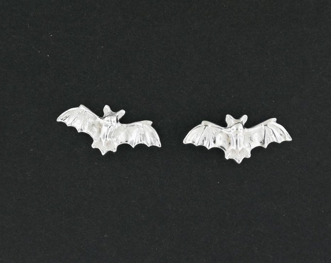 Bat Stud Earrings in Gold Made to Order