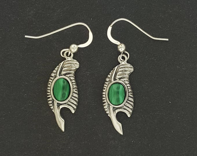 Feather of Ma'at Earrings in Sterling Silver