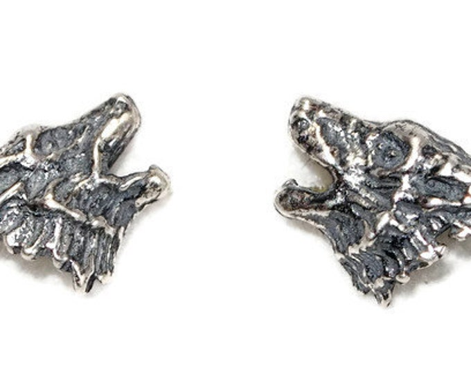 Howling Wolves Sterling Silver Earrings
