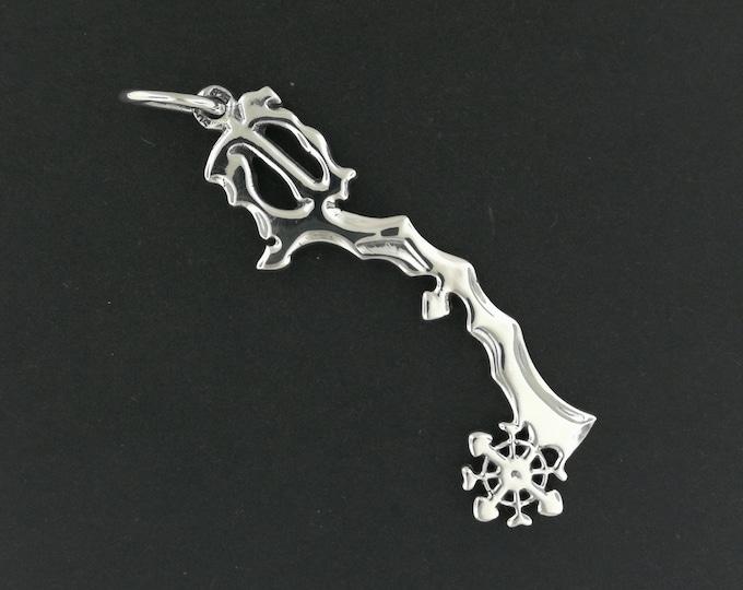 Kingdom Hearts Diamond Dust Keyblade Pendant in Sterling Silver or Antique Bronze