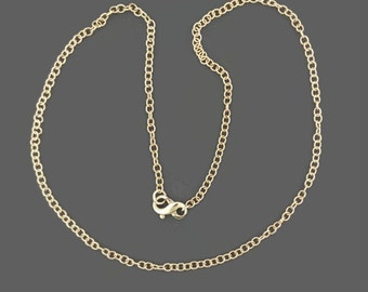 Antique Bronze Rounded Cable Chain Made to Order