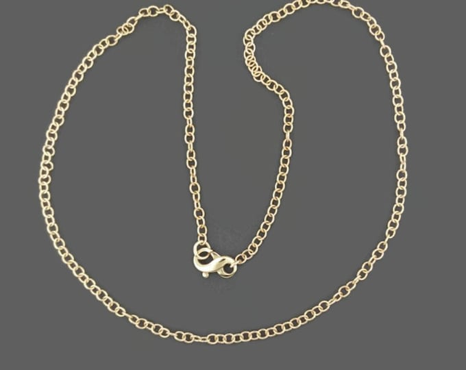 Antique Bronze 1.8mm  Rounded Cable Chain Made to Order