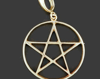 Pentacle Pendant in Antique Bronze