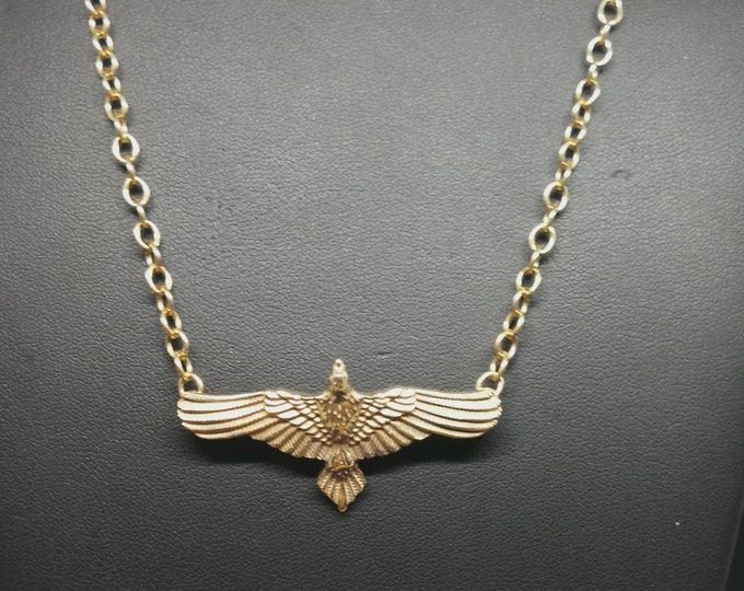 Raven Necklace in Antique Bronze