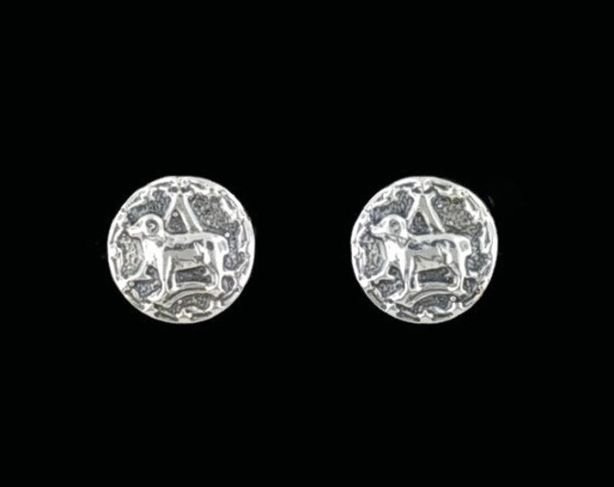 Sterling Silver Zodiac Stud Earrings Aries