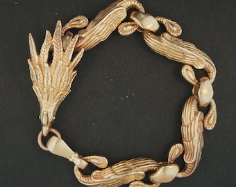 Mens Chinese Phoenix Braclet in Antique Bronze