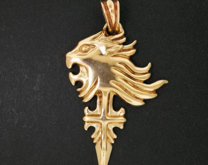 Squall Leonhart Pendant Version 2 from Final Fantasy 8 in Antique Bronze