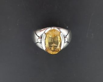 Citrin Ring in Sterling Silver