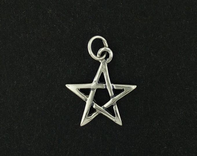 Pentagram Charm in Sterling Silver