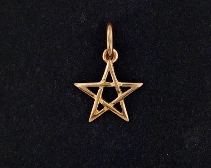 Pentagram Charm in Antique Bronze