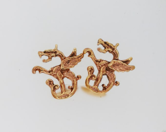 Dragon Cuff Links in Antique Bronze